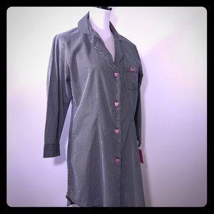 Betsey Johnson Polka Dot Night Shirt NWT M 💕😍💕